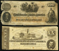 Confederate Notes:Group Lots, T41 $100 1862 PF-11 Cr. 319A.. T51 $20 1862 PF-11 Cr. 366.. ...(Total: 2 notes)