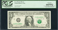 Error Notes:Ink Smears, Fr. 1911-K $1 1981 Federal Reserve Note. PCGS Gem New 66PPQ.. ...