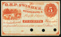 Obsoletes By State:Ohio, Petersburg, OH- O.H.P. Swisher 5¢ 186_ Remainder. ...