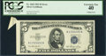 Error Notes:Attached Tabs, Fr. 1655 $5 1953 Silver Certificate. PCGS Extremely Fine 40.. ...