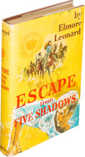 Books:Science Fiction & Fantasy, Elmore Leonard. Escape from Five Shadows. Boston: HoughtonMifflin Company, 1956. First edition of the author's thir...