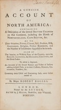 Books:Americana & American History, Robert Rogers. A Concise Account of North America. London:Printed for the Author, and Sold by J. Millan, 1765. Firs...