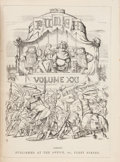 Books:Periodicals, [Illustrated Periodicals]. Nine Large Bound Volumes of Punch. [London: 1851-1891].... (Total: 9 Items)