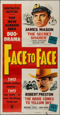"Movie Posters:Action, Face to Face (RKO, 1952). Three Sheet (41"" X 81""). Action.. ..."