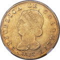 Colombia, Colombia: Republic gold 8 Escudos 1832 BOGOTA-RS AU53 NGC,...