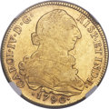 Chile, Chile: Charles IV gold 8 Escudos 1790 So-DA AU55 NGC,...