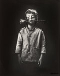 Photographs:Gelatin Silver, Jan Saudek (Czech, b. 1935). Boy with Rose, circa 1980s. Gelatin silver. 12 x 9-5/8 inches (30.5 x 24.4 cm). Signed in i...