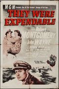 "Movie Posters:War, They Were Expendable (MGM, R-1950s). One Sheet (27"" X 41""). War....."