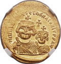Ancients:Byzantine, Ancients: Heraclius (AD 610-641), with Heraclius Constantine (AD613-641). AV solidus (21mm, 4.45 gm, 6h)....