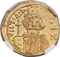 Ancients:Byzantine, Ancients: Constans II Pogonatus (AD 641-668), with Constantine IV,Heraclius and Tiberius. AV solidus (21mm, 4.46 gm, 7h)....