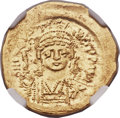 Ancients:Byzantine, Ancients: Justin II (AD 565-578). AV solidus (21mm, 4.52 gm,6h)....