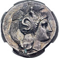 Ancients:Greek, Ancients: LUCANIA. Thurium. Ca. 350-300 BC. AR distater (27mm, 15.76 gm, 9h)....