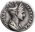 Ancients:Roman Imperial, Ancients: Diva Marciana, sister of Trajan (died AD 112). ARdenarius (19mm, 3.12 gm, 6h)....