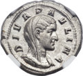 Ancients:Roman Imperial, Ancients: Diva Paulina, wife of Maximinus I (died before AD 235).AR denarius (19mm, 2.50 gm,  7h)....
