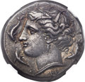Ancients:Greek, Ancients: SICILY. Syracuse. Agathocles (317-289 BC). AR tetradrachm(26mm, 17.06 gm, 12h)....