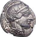 Ancients:Greek, Ancients: ATTICA. Athens. Ca. 454-404 BC. AR tetradrachm (24mm,17.18 gm, 6h)....