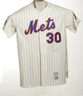 Autographs:Jerseys, Nolan Ryan Signed Jersey. Perfect replica of the Strike Out King'shome pinstriped Mets flannel is signed on front in flawl...