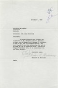 Autographs:Letters, 1960 Ted Williams Signed Letter to Hillerich & Bradsby. Just amonth after closing out a Hall of Fame career that saw the p...