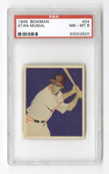 Baseball Cards:Singles (1940-1949), 1949 Bowman Stan Musial #24 PSA NM-MT 8. The bold and simple beauty of the Bowman company's sophomore effort brings color i...