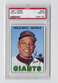 Baseball Cards:Singles (1960-1969), 1967 Topps Willie Mays #200 PSA Mint 9. Fewer than one percent of the examples of this coveted card have gained the lofty s...