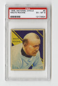 Football Cards:Singles (Pre-1950), 1935 National Chicle Knute Rockne #9 PSA EX-MT 6. The first greatfootball set, National Chicle followed in the footsteps o...
