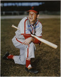 Baseball Collectibles:Others, Stan Musial Signed Photograph. Signed Stan Musial 16x20 photographin 10/10 blue ink sharpie. LOA from PSA/DNA....
