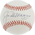 Autographs:Baseballs, 1970's Joe DiMaggio Single Signed Baseball, Graded PSA Mint+ 9.5. It's tough enough to find a 1990's Joe DiMaggio ball to m...