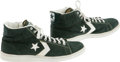 Basketball Collectibles:Uniforms, Early 1980's Larry Bird Game Worn & Signed Sneakers. The blondemidwesterner that led the Boston Celtics to glory. Pair of...