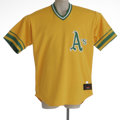 Baseball Collectibles:Uniforms, 2002 Mike Magnante Oakland Athletics Game Worn Throwback Jersey.Beautiful 100% polyester size 50 Rawlings jersey of #52 Mik...