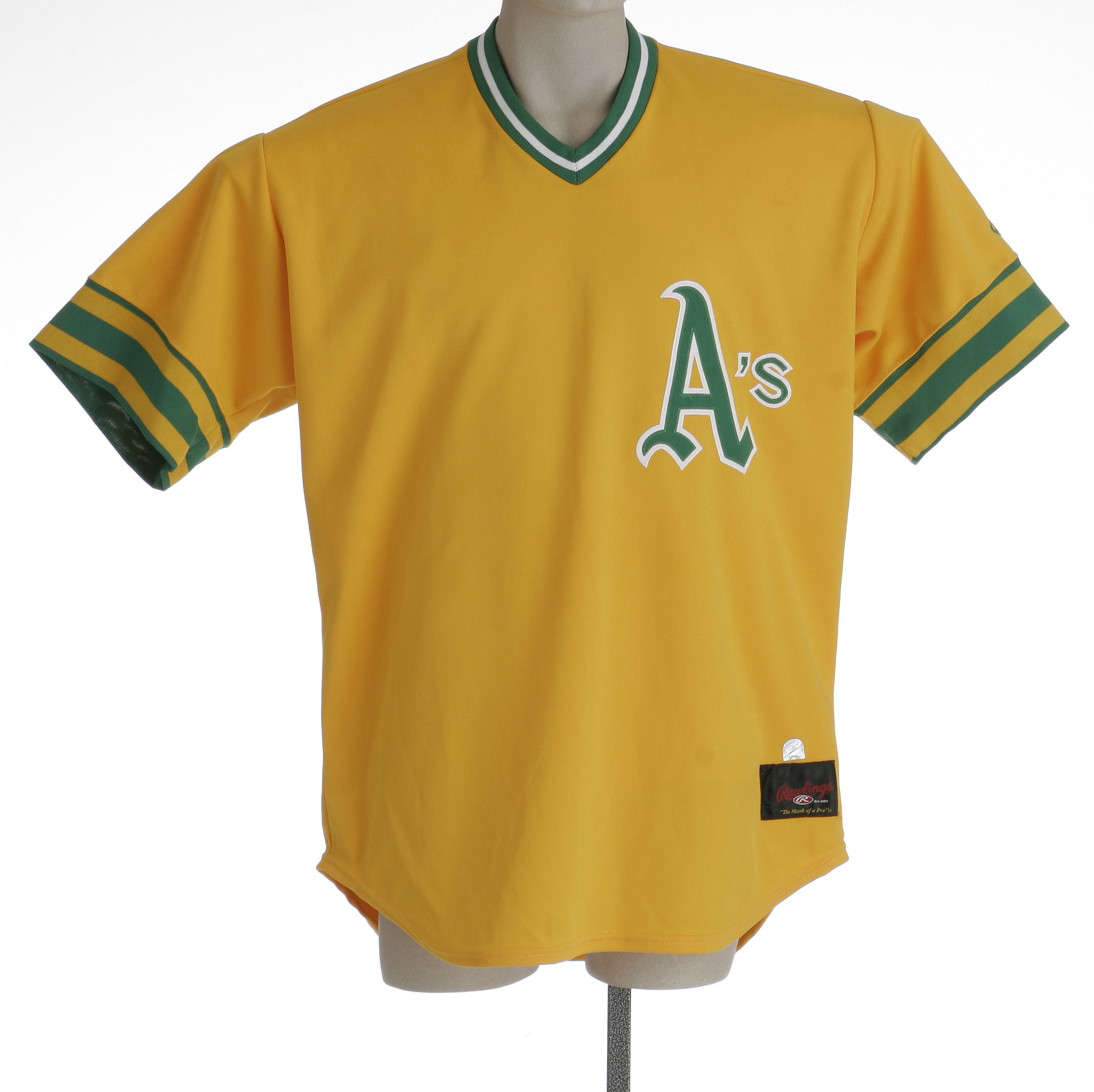 lowest price 6044d b5b4f 2002 Mike Magnante Oakland Athletics Game Worn Throwback ...
