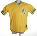 Baseball Collectibles:Uniforms, Circa 2002 Jeff Tam Oakland A's Game Worn Road Throwback Jersey. Beautiful 100% polyester Rawlings jersey of A's reliever ...