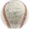Autographs:Baseballs, 1953 Brooklyn Dodgers Team Signed Baseball. With such a largepercentage of Brooklyn team balls spawned from the single han...