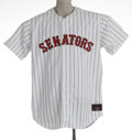 Baseball Collectibles:Uniforms, Washington Nationals Game Issued Throwback Jersey. 100% polyestersize 54 button up Rawlings jersey of #31 of the Washington...