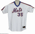 Baseball Collectibles:Uniforms, Circa 1996 Dave Weathers Game Worn Jersey. Nice wear on this home white New York Mets jersey from the veteran right hander....