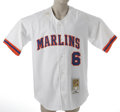Baseball Collectibles:Uniforms, 2002 Andy Fox Florida Marlins Game Worn Throwback Jersey. Authentic Cooperstown Collection/Mitchell & Ness game worn jersey ...