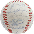 Autographs:Baseballs, 1966 National League All-Star Team Signed Baseball. When MauryWills singled in the winning run in the bottom of the tenth ...