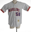 Baseball Collectibles:Uniforms, 2002 Michael Tejera Florida Marlins Game Worn Throwback Jersey. Authentic Cooperstown Collection/Mitchell & Ness game worn j...