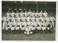 """Baseball Collectibles:Photos, 1937 New York Yankees Team Wire Photograph. Paper caption on versoreads in part, """"Members of Marse Joe McCarthy's New York..."""