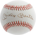 "Autographs:Baseballs, Mickey Mantle Single Signed Baseball, PSA Mint+ 9.5. With Mantlesingles the new ""gold standard"" in the collecting hobby, s..."