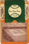 "Baseball Collectibles:Others, 1908 ""Our Home Team"" Chicago Cubs Accordion Postcard. Shall we lovethis piece more because of its scarcity and remarkable ..."
