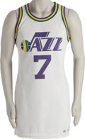 Basketball Collectibles:Uniforms, Late 1970's Pete Maravich Game Worn Jersey. Remembering muchhappier days in the Big Easy is this outstanding gamer from t...