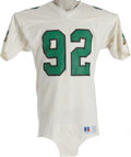Football Collectibles:Uniforms, Mid-1980's Reggie White Game Worn Jersey. There's nothing we love more than a rookie-era Hall of Fame jersey, and while thi...