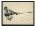 Autographs:Others, Circa 1970 Roberto Clemente Signed Print. You'll find few Clemente signed display pieces that can hold a candle to the offe...