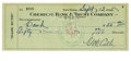Autographs:Checks, 1935 Babe Ruth Double-Signed Check. Those following the memorabiliatrends have certainly taken notice of the steep climb i...