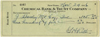 1936 Babe Ruth Signed Check. Just over a year after the Babe hung up his thunderous bat, he filled out and signed this p...