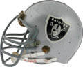 """Football Collectibles:Helmets, Circa 1979 Ted Hendricks Game Worn Helmet. Known as the """"Mad Stork"""", Hendricks was an All-American at Miami and All-Pro wit..."""