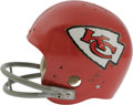 Football Collectibles:Helmets, Mid-1970's Len Dawson Game Worn Helmet. One of the greatest passers in the history of the NFL, this legendary Hall of Famer...