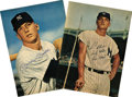 Autographs:Photos, 1960's Mickey Mantle & Roger Maris Vintage Signed Photographs. While we love 1980's autographs from the M&M boys as much as...