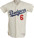 Baseball Collectibles:Uniforms, 1968 Ron Fairly Game Worn Jersey. A nineteen-year old rookie when the Dodgers brought Big League ball to the West Coast, Fa...