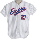 Baseball Collectibles:Uniforms, Circa 2001 Vladimir Guerrero Game Worn Jersey. Now that the Montreal Expos are no more, smart collectors are snapping up th...
